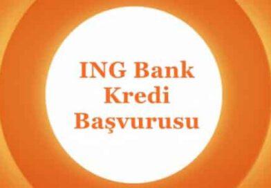 İNG Bank Acil Kredi Başvurusu (ANINDA ONAY) Kredi
